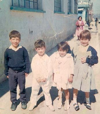 1967 el kinder Eric Mercado ,yo, Rosa Negrete, Lulu Negrete